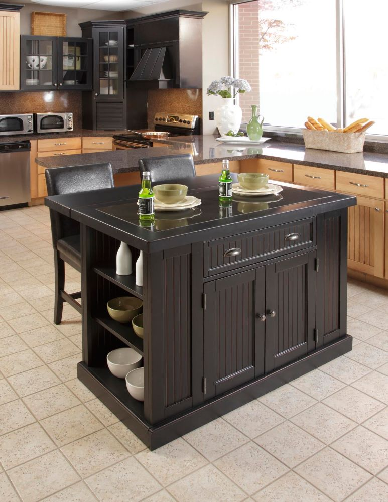 Home styles kitchen island with two stools the home - Kitchen island with stools ...