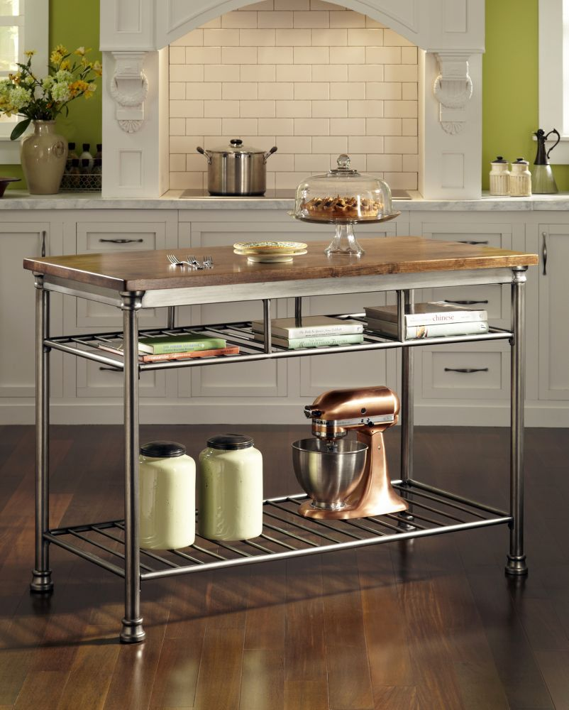 Beautiful The Orleans Vintage Carmel Kitchen Utility Table Great Ideas