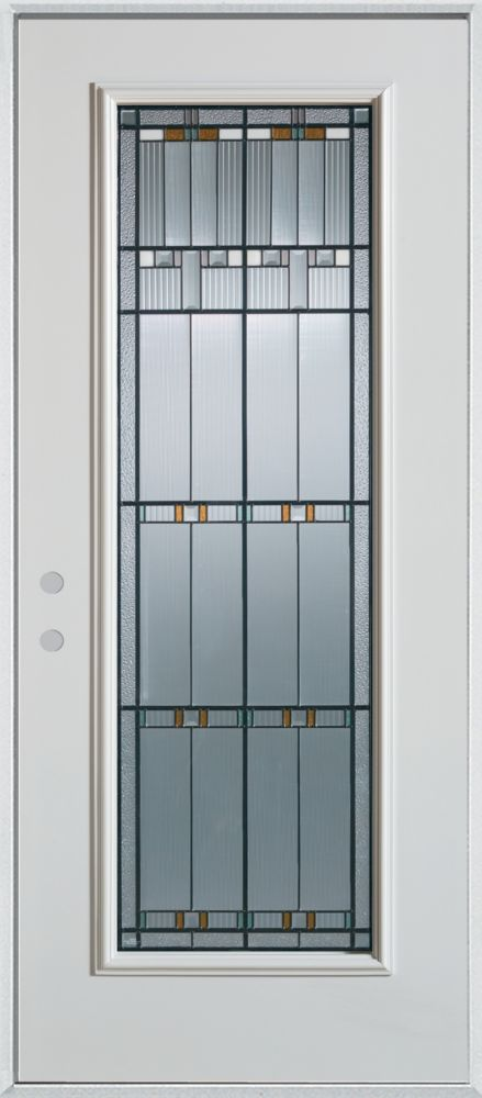 Chicago Full Lite Painted Steel Entry Door