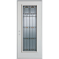 Stanley Doors Porte dentrée en acier peint, munie d'un panneau de verre - ENERGY STAR®