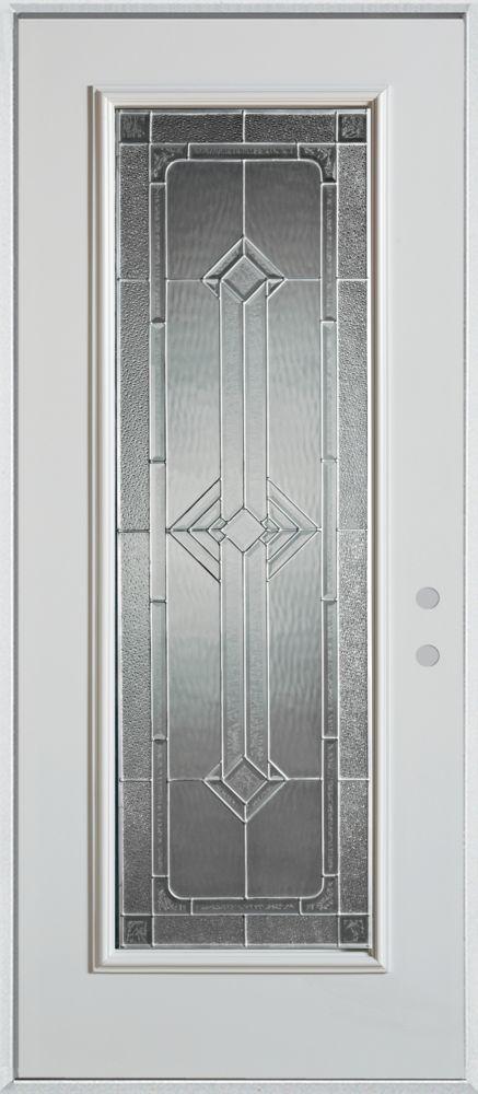 Neo-Deco Full Lite Painted Steel Entry Door