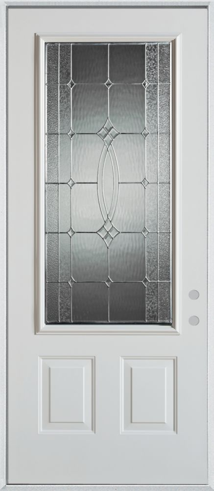 Diamanti Classic 3/4-Lite 2-Panel Painted Steel Entry Door