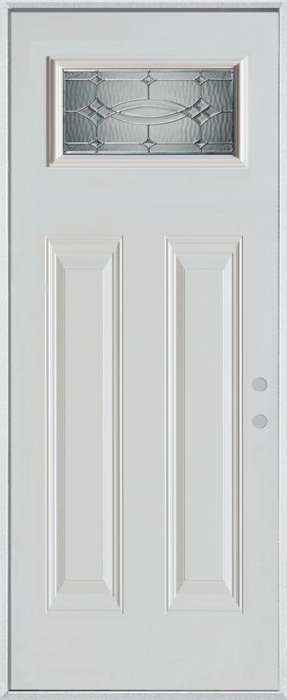 36-inch x 80-inch Diamanti Classic Rectangular Lite 2-Panel Painted Steel Entry Door