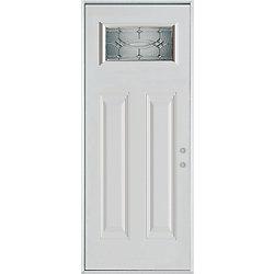 Stanley Doors Porte dentrée en acier peint, munie de deux panneaux et dun verre rectangulaire - ENERGY STAR®