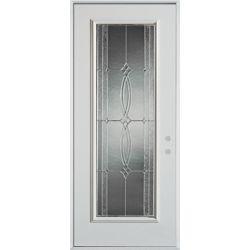 Stanley Doors 37.375 inch x 82.375 inch Diamanti Zinc Full Lite Prefinished White Left-Hand Inswing Steel Prehung Front Door - ENERGY STAR®