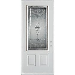 Stanley Doors Porte dentrée en acier peint, munie de deux panneaux et dun 3/4 verre - ENERGY STAR®