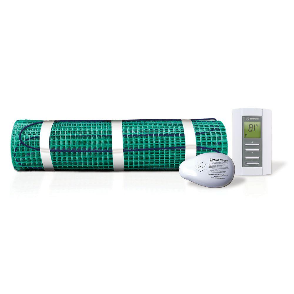 Kit de chauffage de sol TempZone� 120V 1.5' x 30' , 45 pied carres avec thermostat NON programmab...
