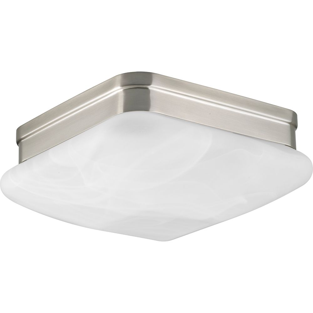 Progress Lighting Appeal Collection 2-Light Brushed Nickel Flushmount
