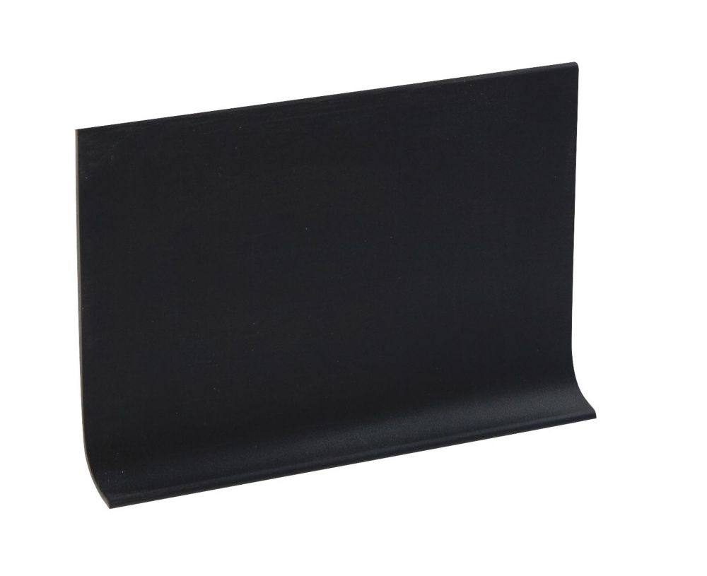 4 Inch Rubber Wall Cove Base - 100 Foot Roll - Black
