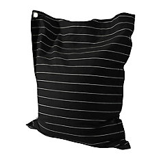 Siège-sac Anywhere Lounger à rayures noires et blanches