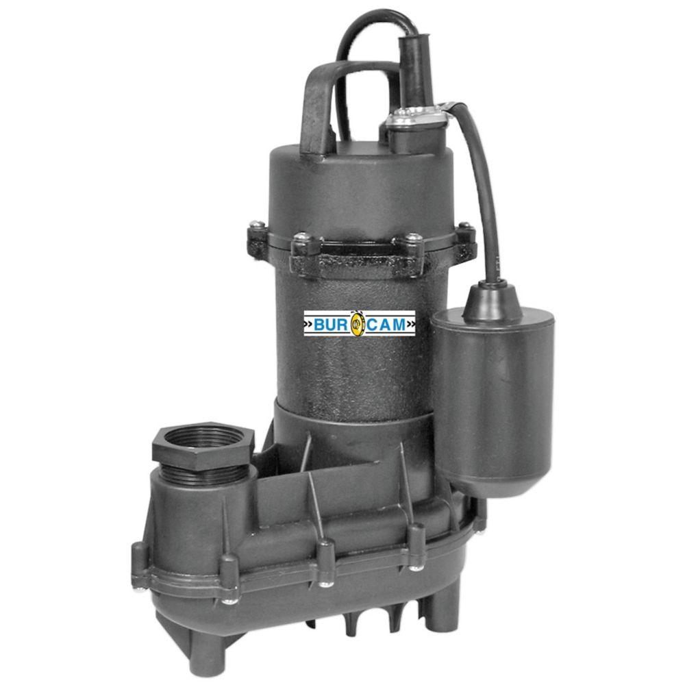 1/2HP Submersible Effluent Sump Pump