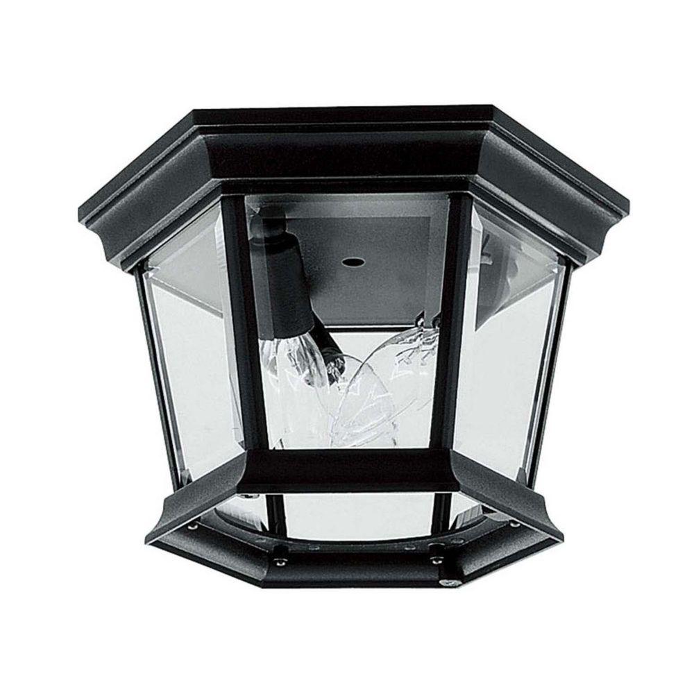 Providence 3-Light Black Outdoor Ceiling-Light
