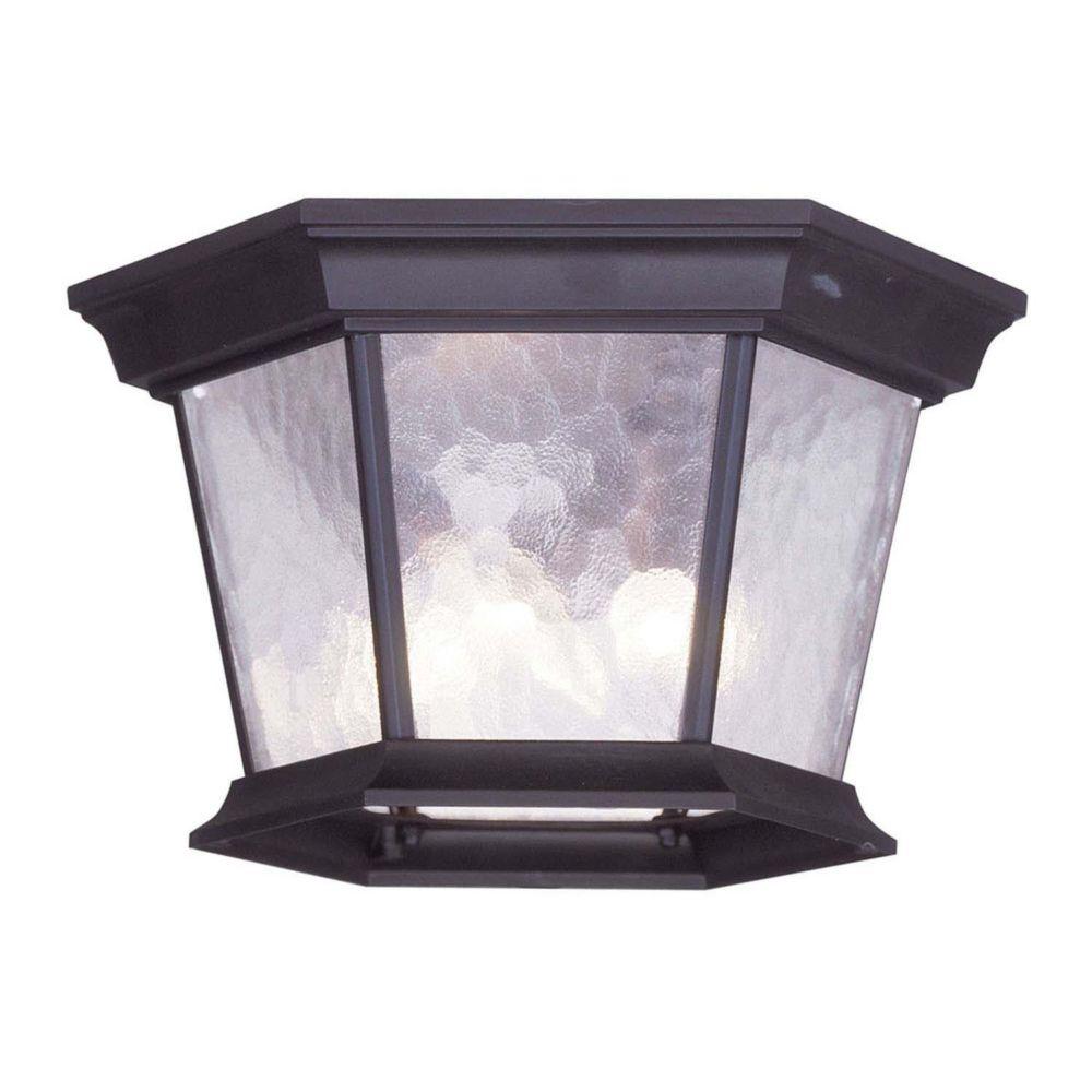 Providence 3-Light Bronze Outdoor Ceiling-Light
