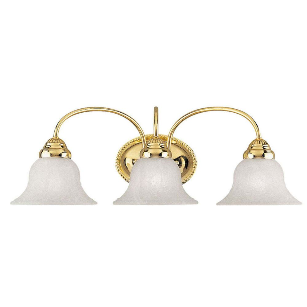 Bathroom Vanity Lights Brass: Illumine Providence 3 Light Bright Brass Incandescent Bath