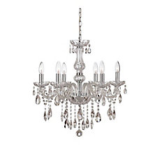 Chandeliers the home depot canada deamber collection 6 light chrome chandelier mozeypictures Image collections