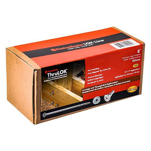FastenMaster Thrulok 8 Inch. - (24-Pack)