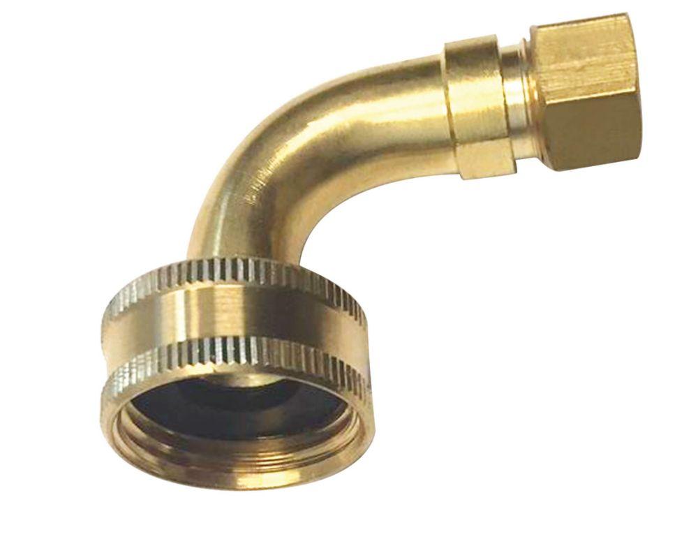 Coude 90 Degrés pour Lave-Vaisselle 3/4 Pouce Boyau x 3/8 Pouce D.E. Comp.
