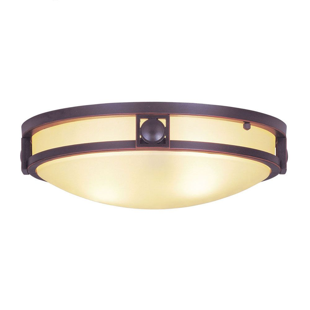 Providence 2-Light Bronze Semi Flush Mount with Iced Champagne Glass