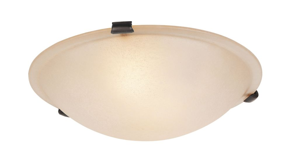 Providence 3-Light Bronze Semi Flush Mount with Honey Alabaster Glass