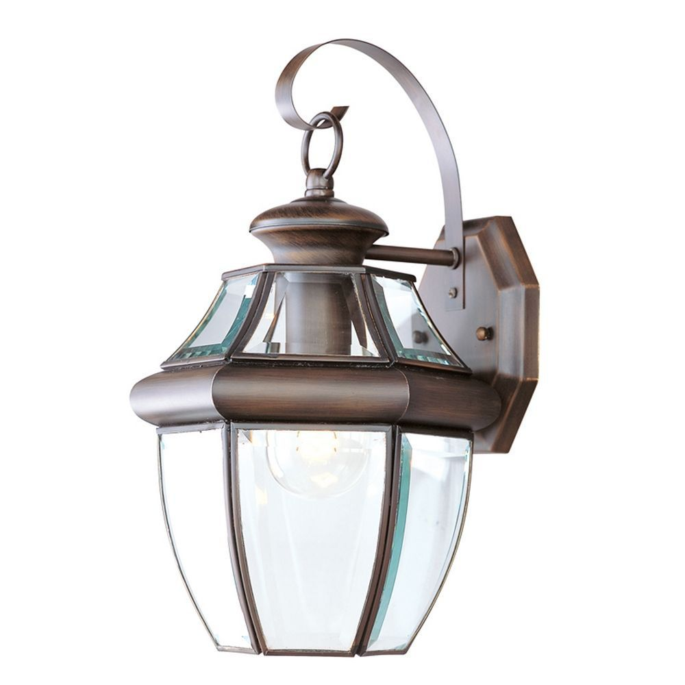 Providence 1 Light Imperial Bronze Incandescent Wall Lantern with Clear Beveled Glass CLI-LTG2151-58 Canada Discount