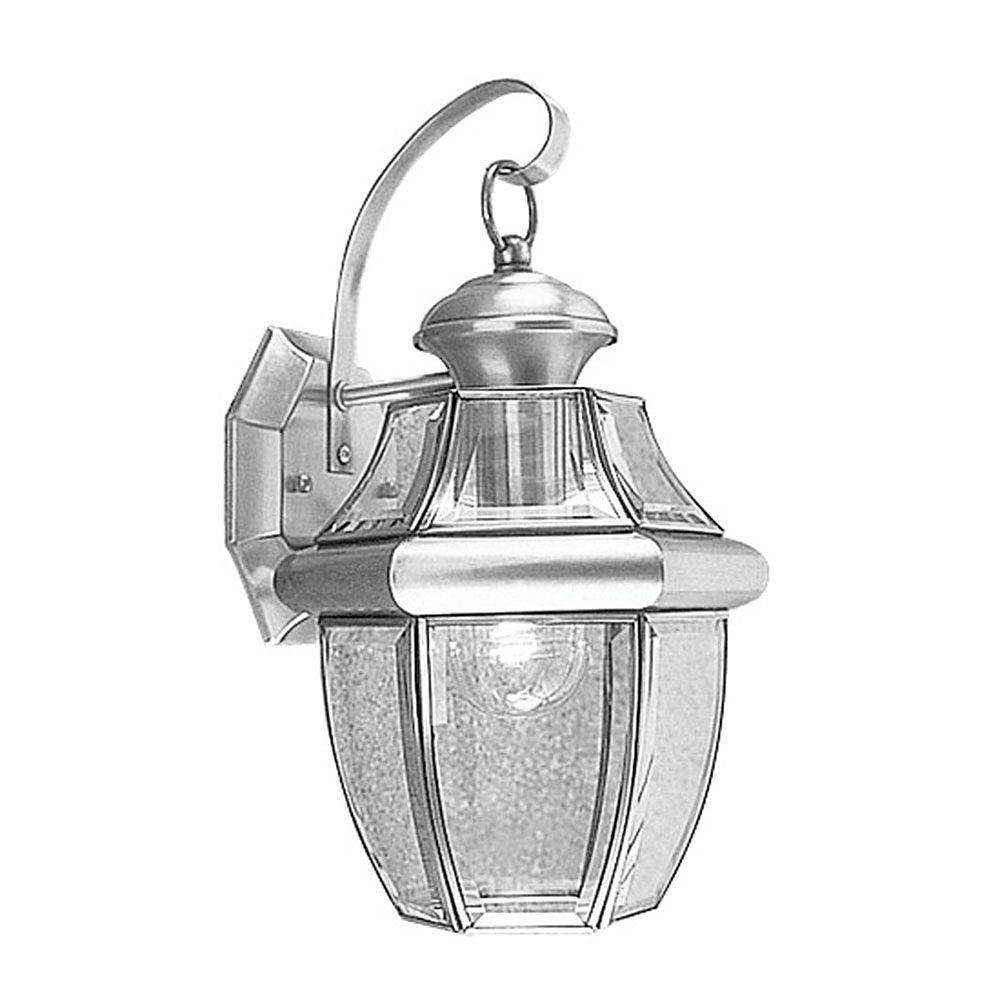 Providence 1 Light Brushed Nickel Incandescent Wall Lantern with Clear Beveled Glass CLI-LTG2151-91 Canada Discount