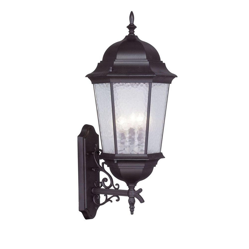 Providence 3 Light Bronze Incandescent Wall Lantern with Clear Water Glass CLI-LTG7566-07 Canada Discount
