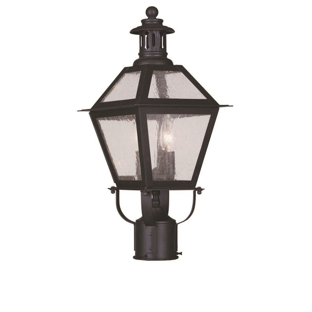 Providence 2 Light Bronze Incandescent Post Head with Seeded Glass CLI-LTG2042-07 Canada Discount