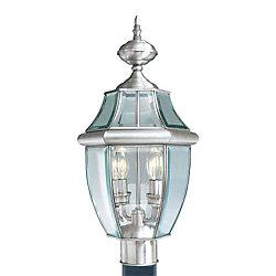 Illumine pilier monture lumière avec abat-jour clair couleur en argent