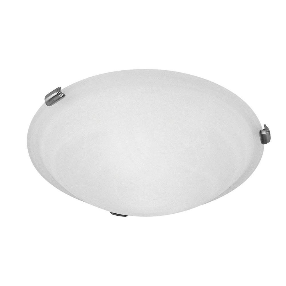 Providence 3 Light Brushed Nickel Incandescent Semi Flush Mountwith White Alabaster Glass CLI-LTG8012-91 Canada Discount