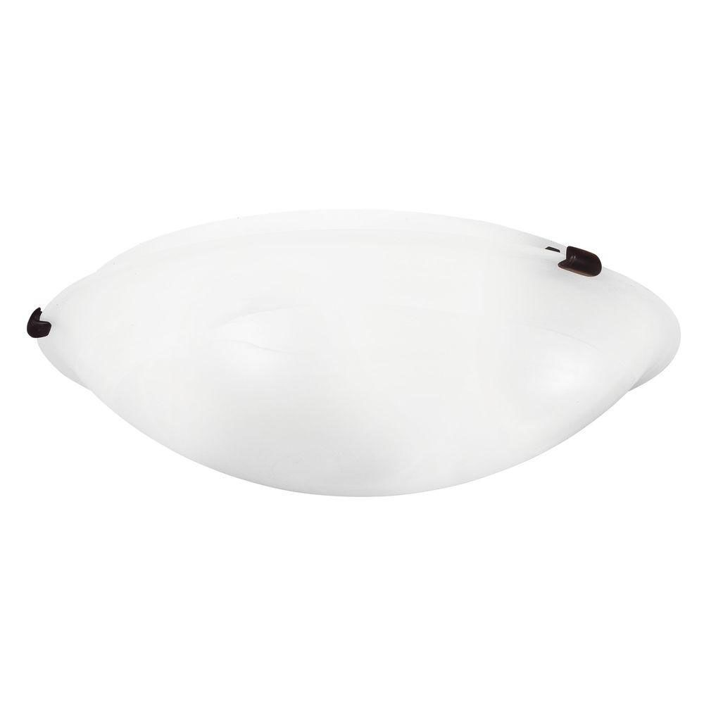 Providence 4-Light Bronze Semi Flush Mount with White Alabaster Glass