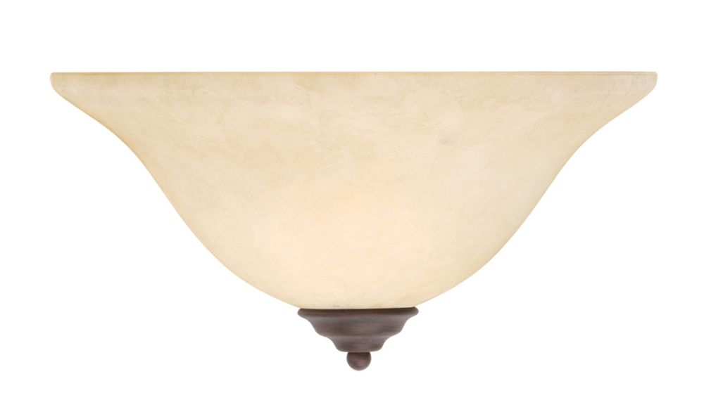 Providence 1 Light Bronze Incandescent Wall Sconce with Vintage Scavo Glass
