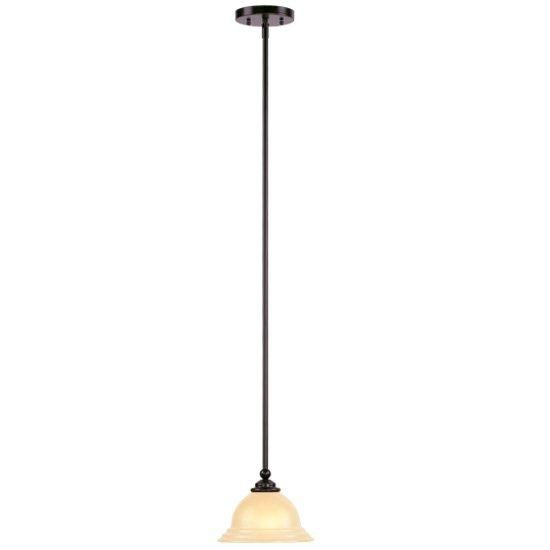 Providence 1-Light Bronze Mini Pendant with Iced Champagne Glass