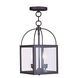 Illumine Providence 2-Light Bronze Pendant with Clear Glass