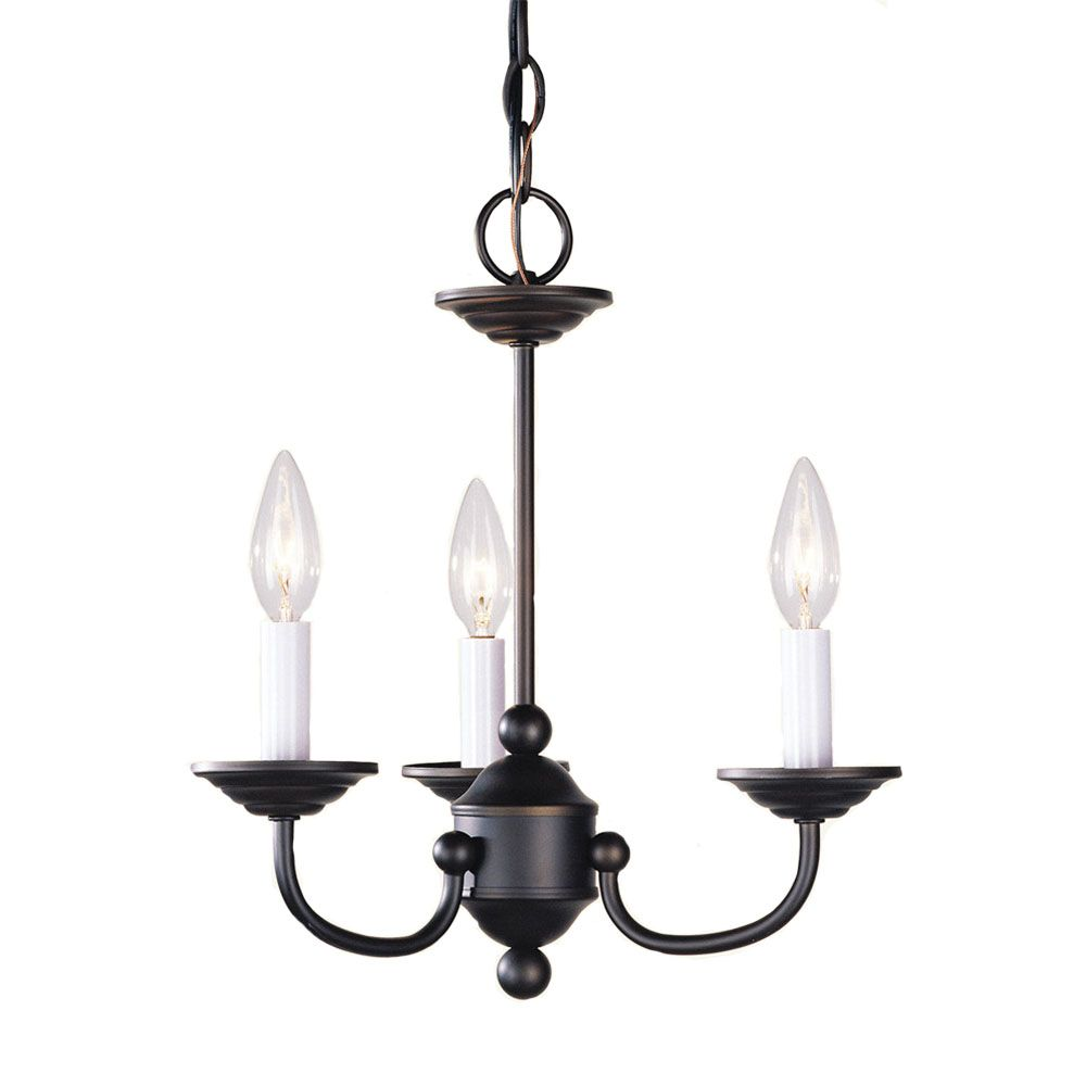 Providence 3-Light Bronze Chandelier