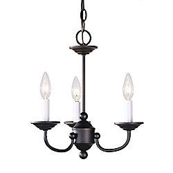 Illumine Providence 3-Light Bronze Chandelier