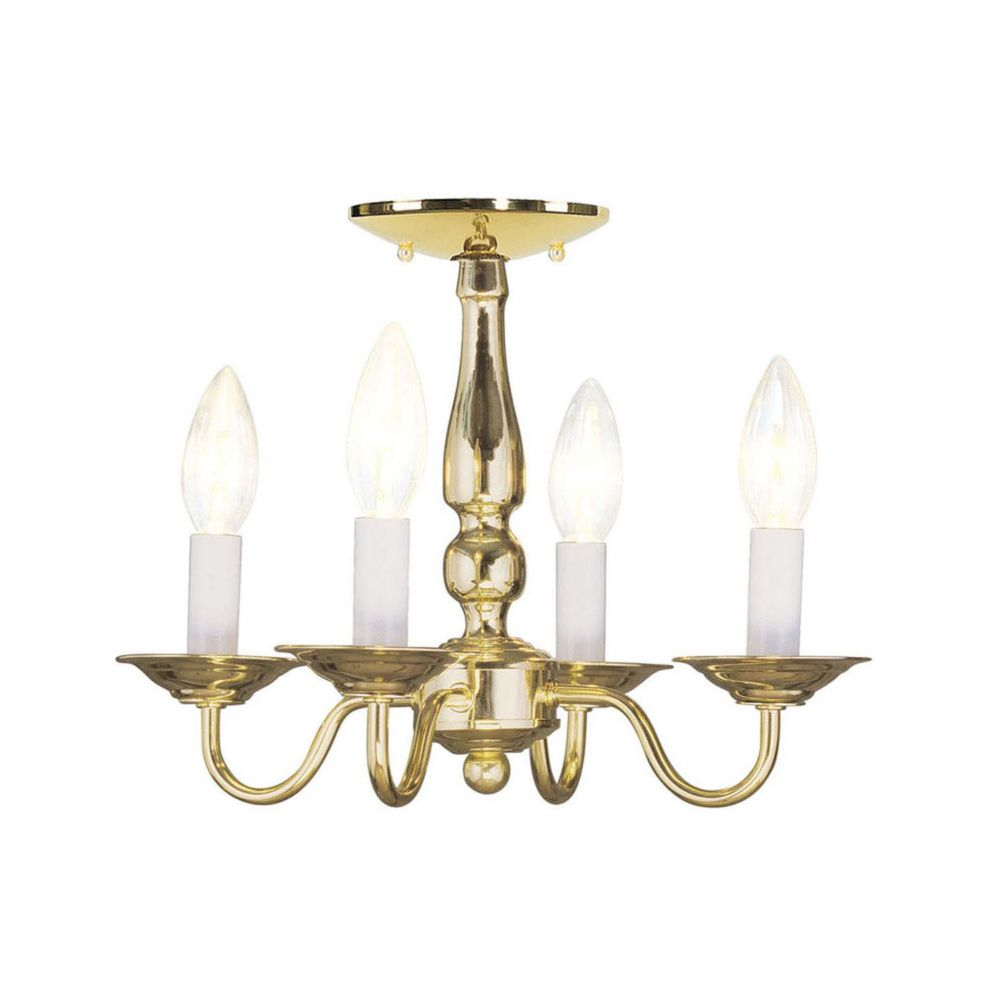 Providence 4-Light Bright Brass Chandelier