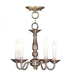 Illumine Providence 5 Light Antique Brass Incandescent Chandelier