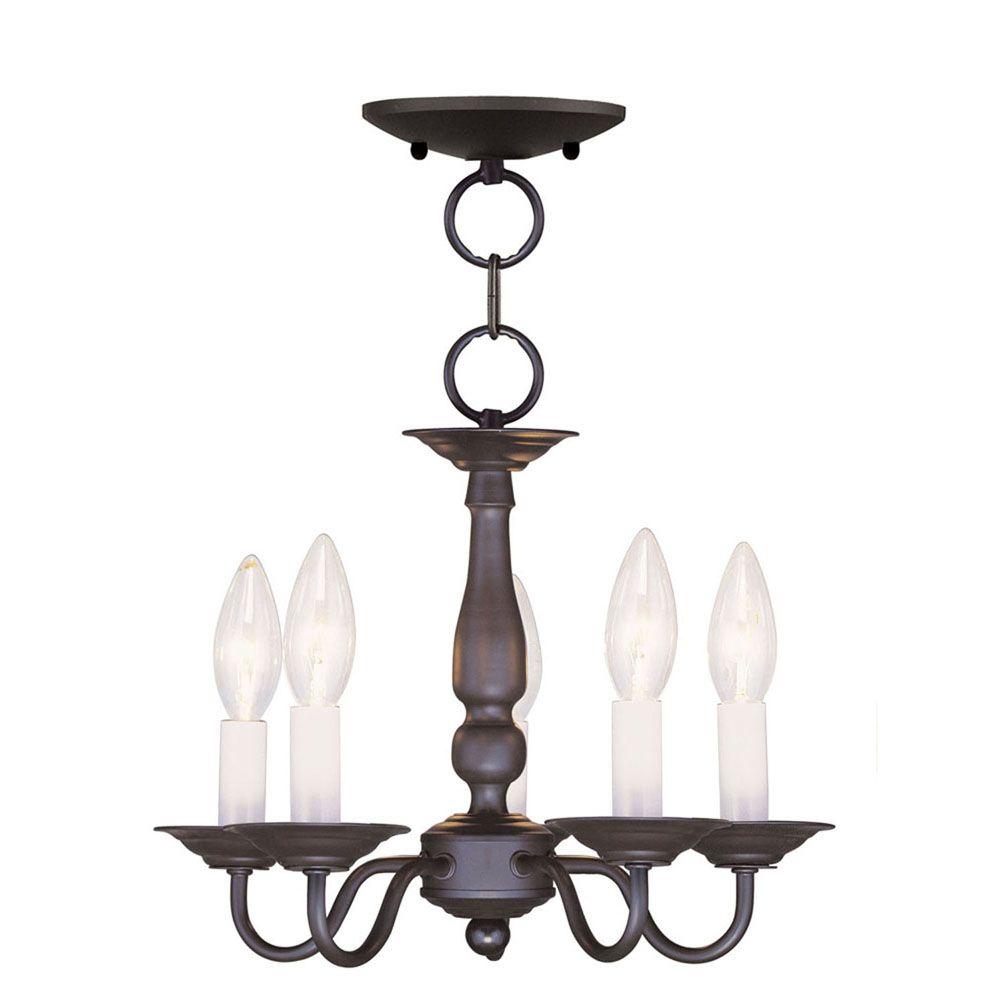 Providence 5-Light Bronze Chandelier