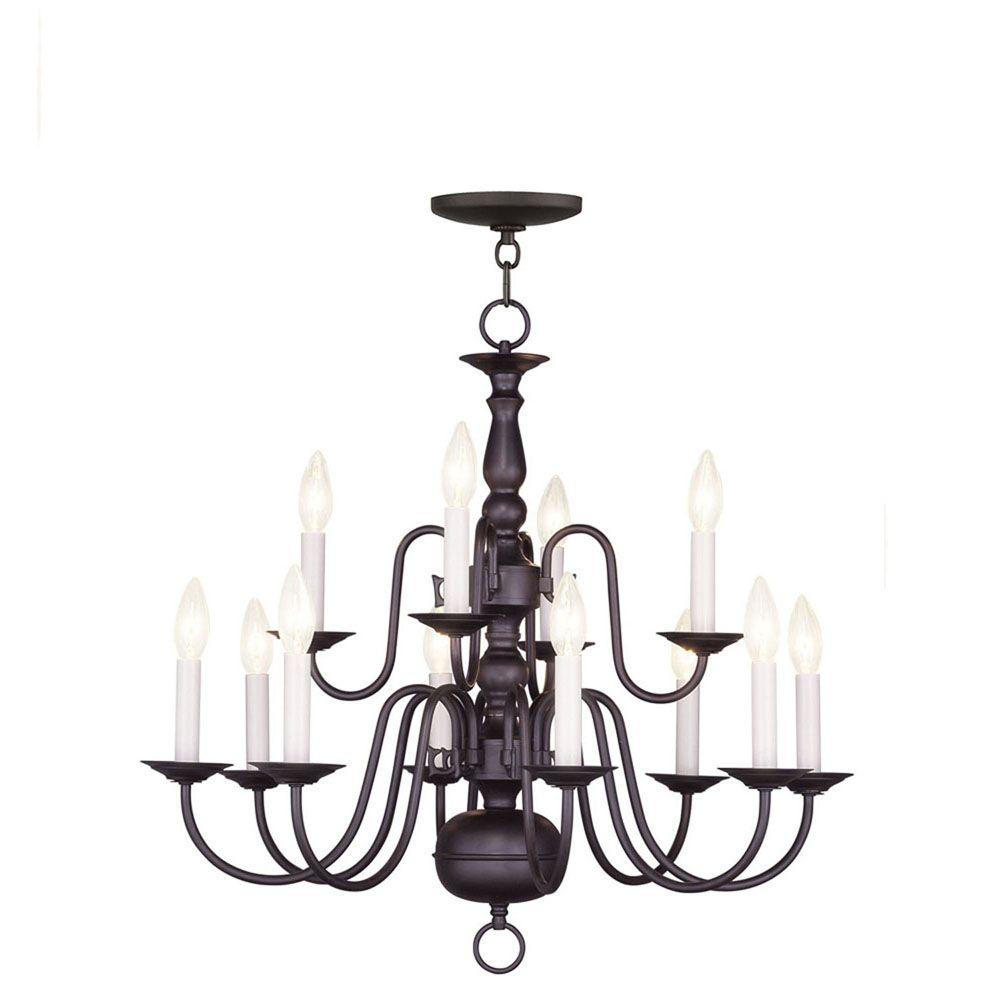 Illumine Providence 8-Light Bronze Chandelier