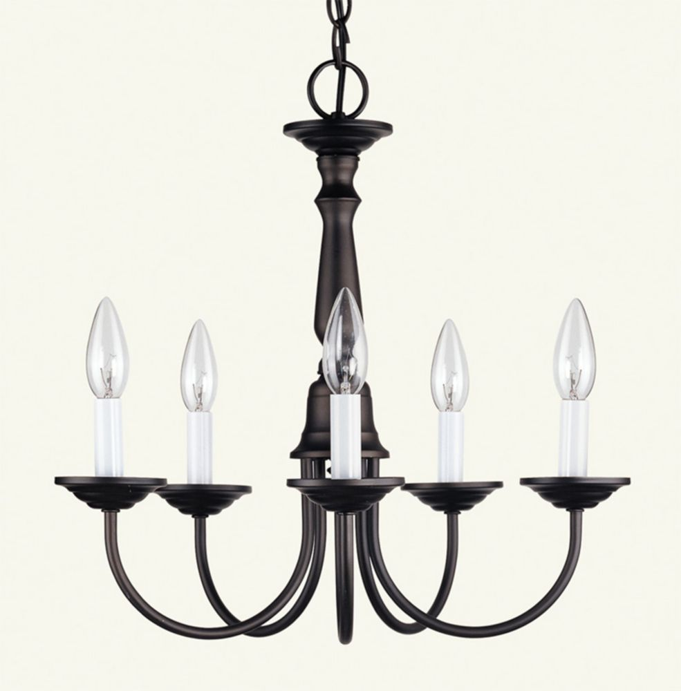 Providence 5-Light Bronze Chandelier