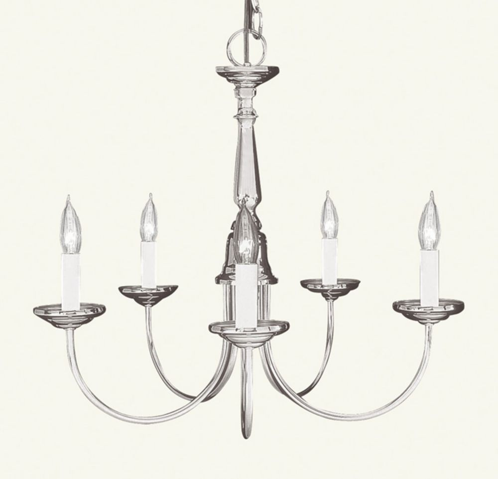 Providence 5 Light Brushed Nickel Incandescent Chandelier