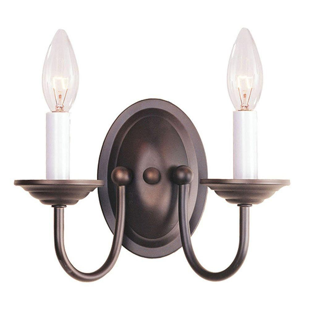Providence 2-Light Bronze Wall Sconce