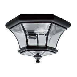 Illumine Providence 3 Light Black Incandescent Semi Flush Mount with Clear Beveled Glass
