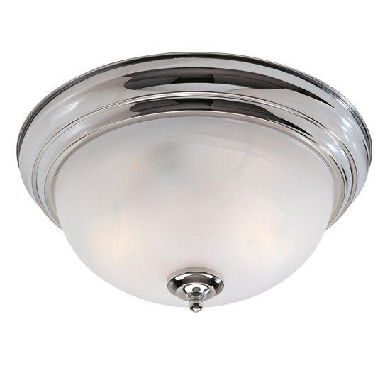 Providence 2 Light Brushed Nickel Incandescent Semi Flush Mountwith White Alabaster Glass