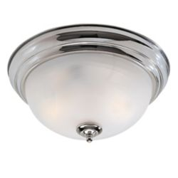 Illumine Providence 2-Light Brushed Nickel Semi Flush Mount with White Alabaster Glass