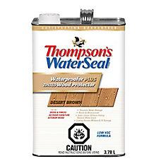 Imperméabilisant PLUS protecteur pour bois teinté Thompsons WaterSeal Faible en COV - Brun Désertique