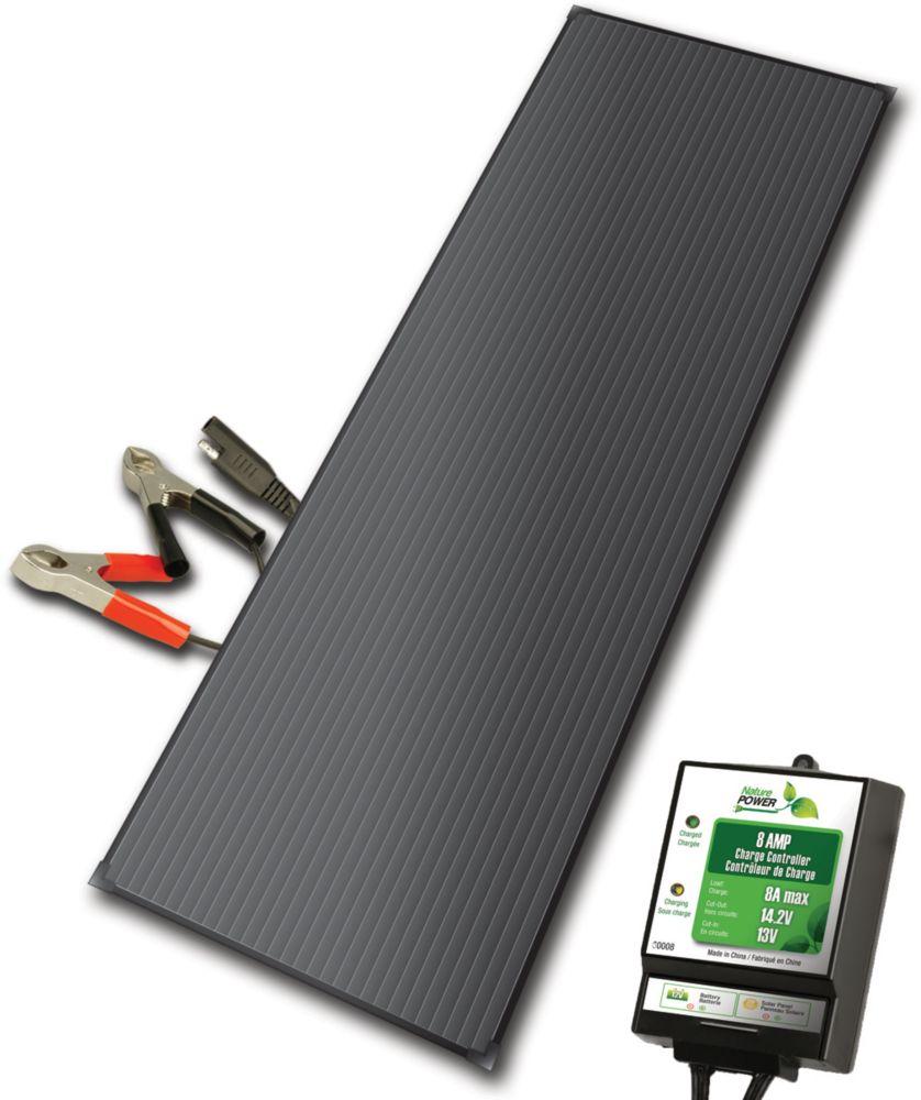 Aluminium 18 Watt Kit solaire chargeur de batterie avec 8 Contrôleur de charge Amp