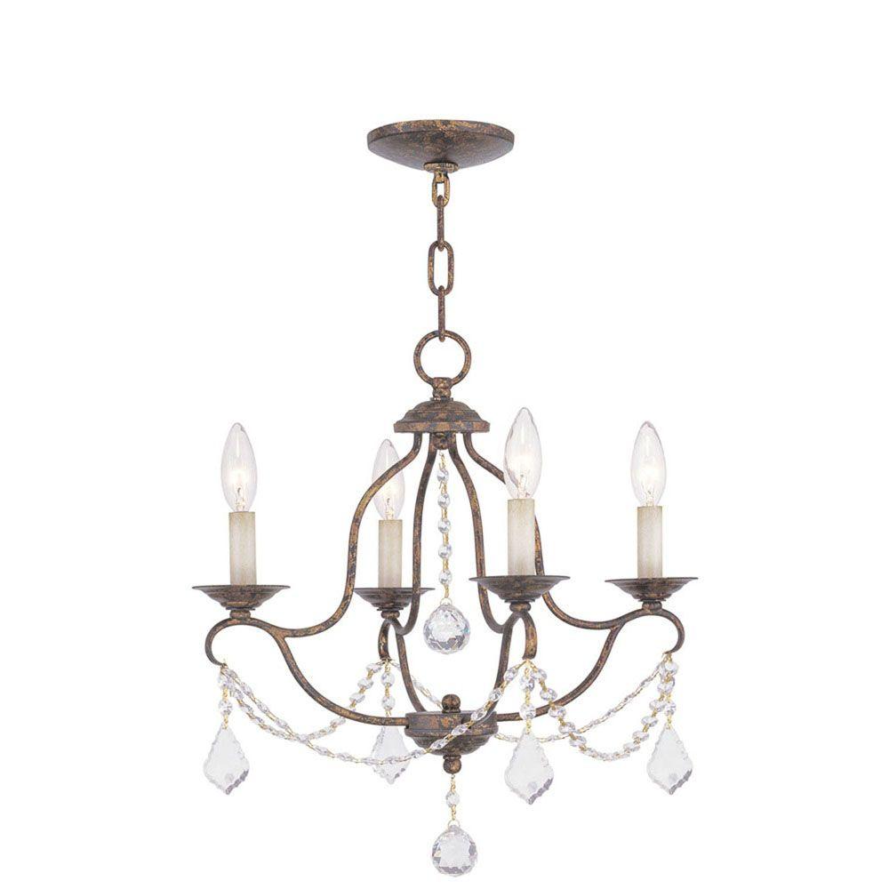 lumière accrochante avec style couleur en bronze