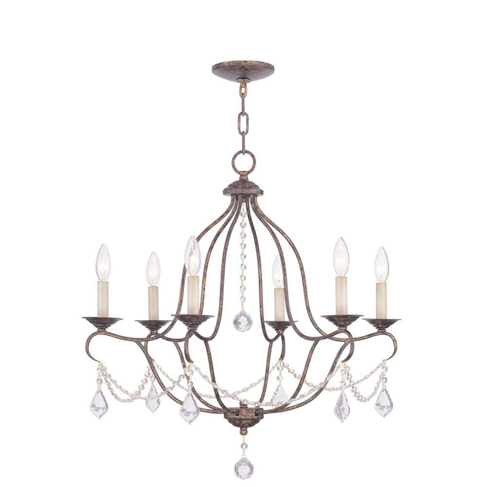 Providence 6-Light Venetian Gold Chandelier