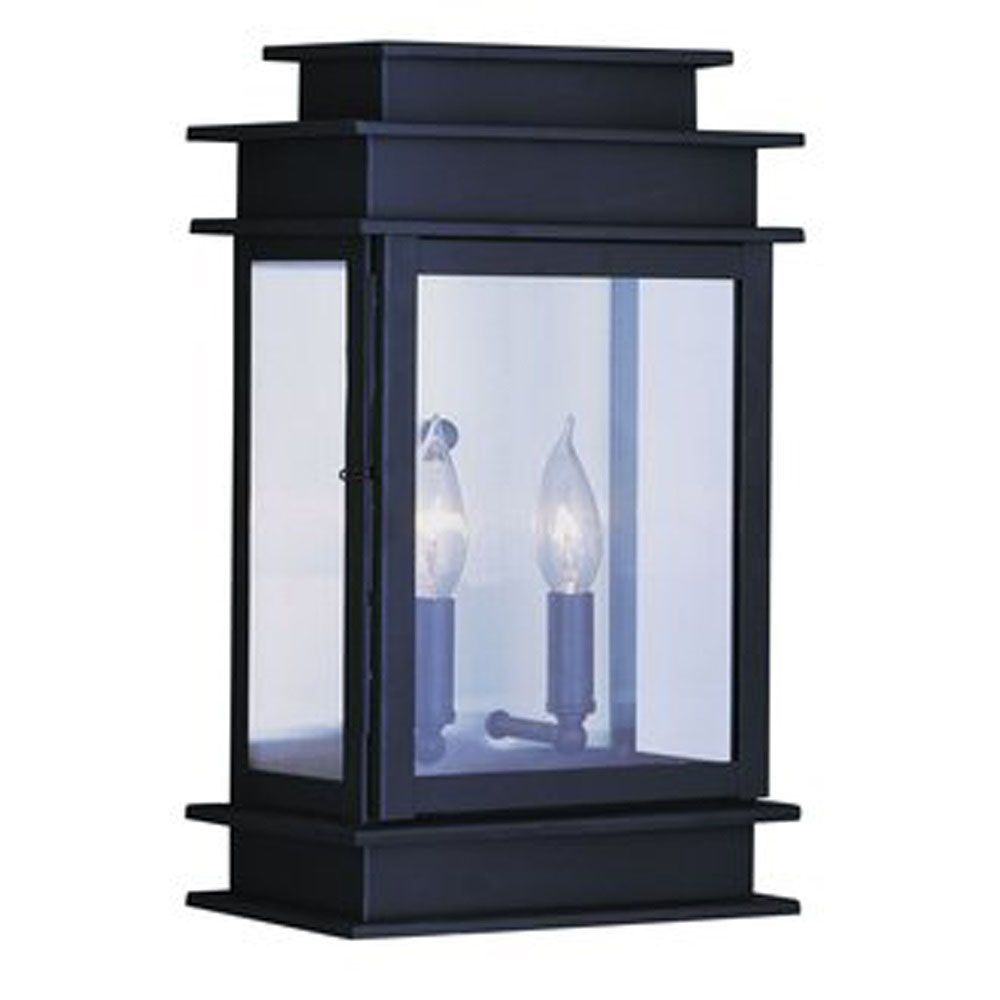 Providence 2-Light Bronze Wall Lantern with Clear Glass